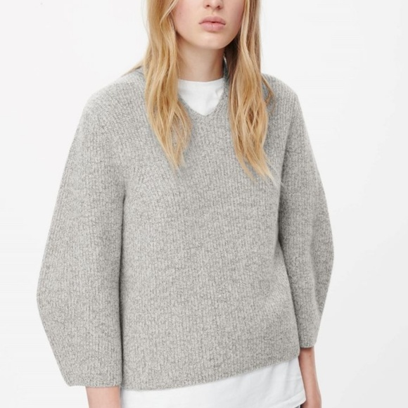 a4b29571a COS Sweaters - COS A line V-neck Gray Jumper Sweater